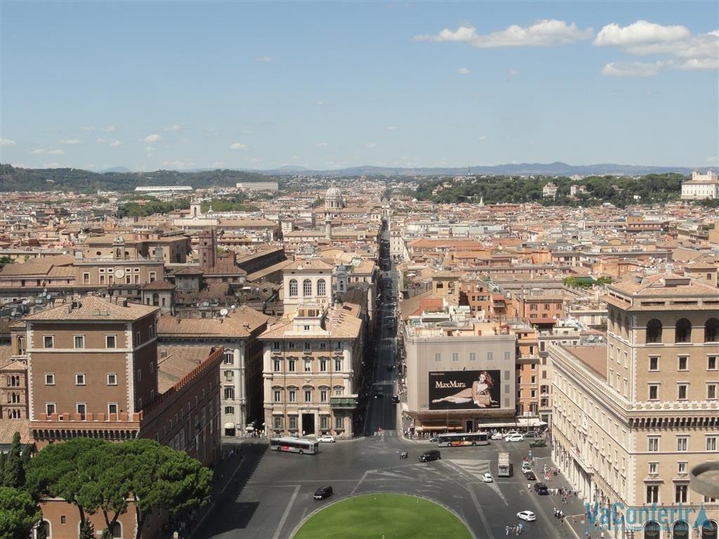 Vista parcial de Roma