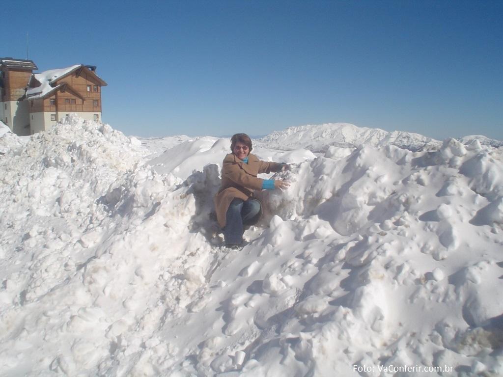 No Vale Nevado, apenas brincamos com o gelo.