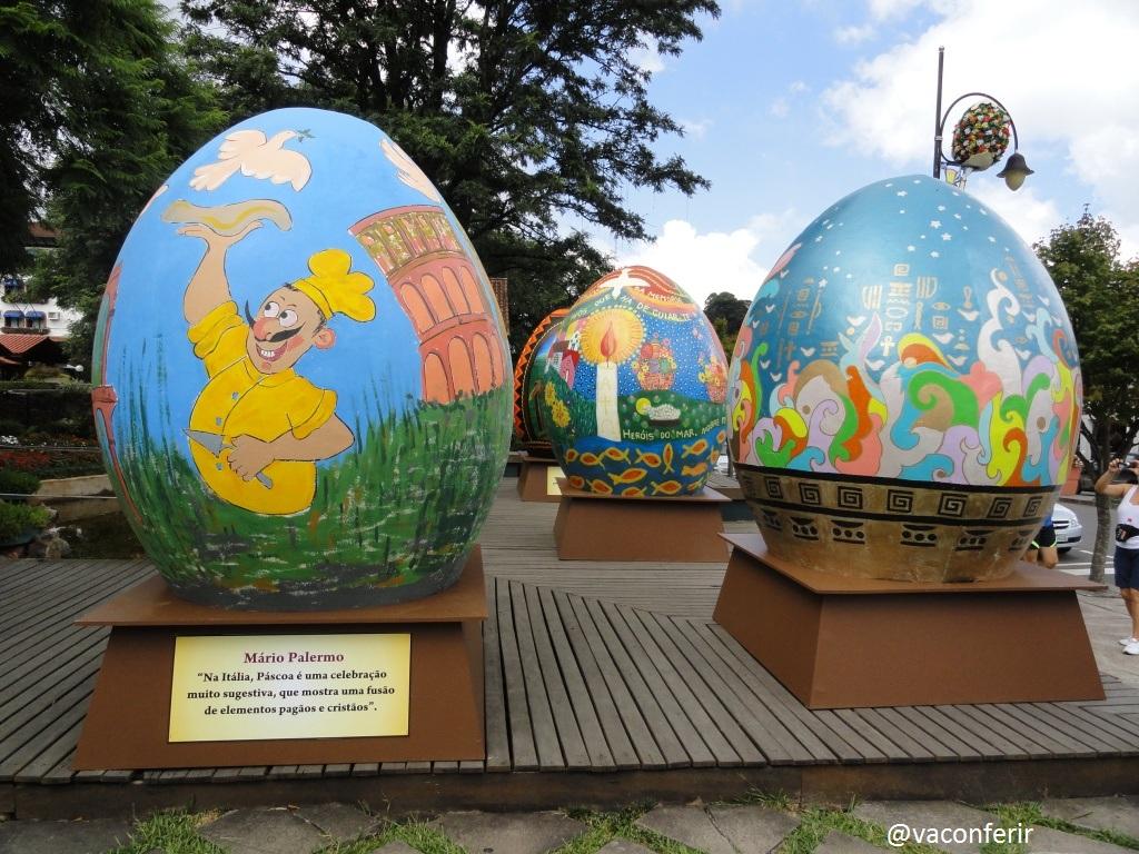 """Na cidade de Gramado tem a """"Chocofest"""" e retrata bem o significado do Ovo de Páscoa,"""