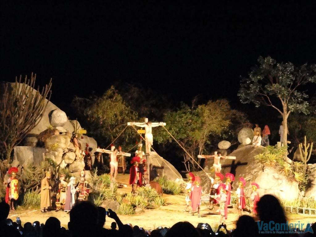 O Calvário cena na Paixão de Cristo em Pernambuco