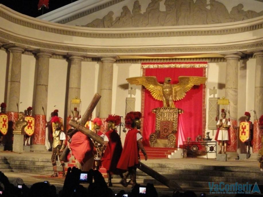 A Via Sacra na Paixão de Cristo.
