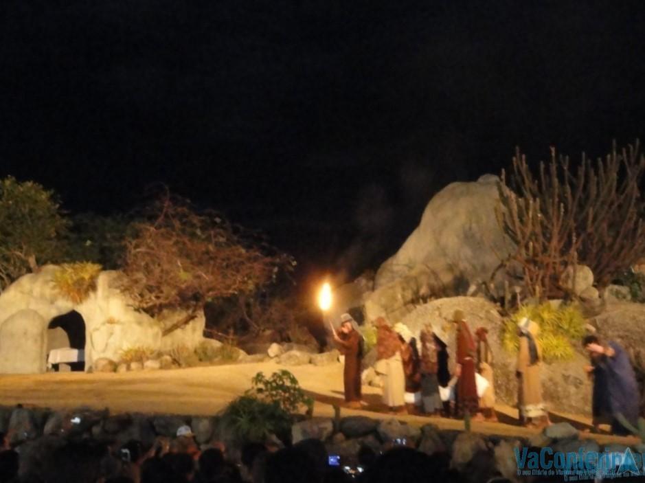 O Sepulcro na Paixão de Cristo.