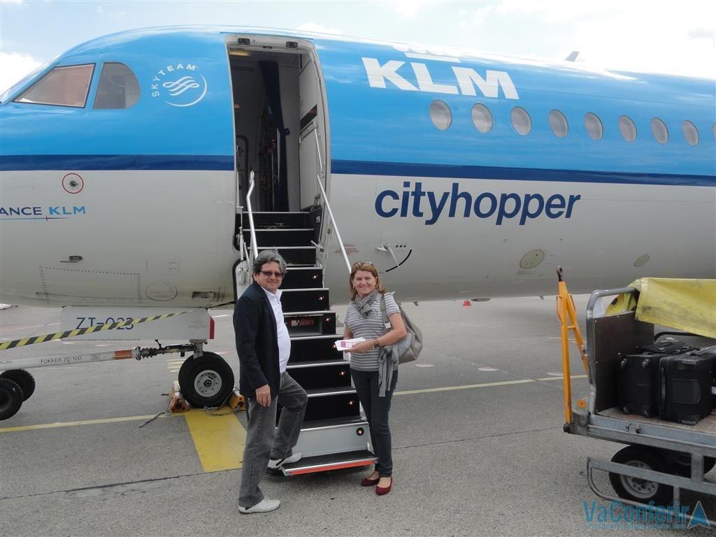 Nós voando pela KLM