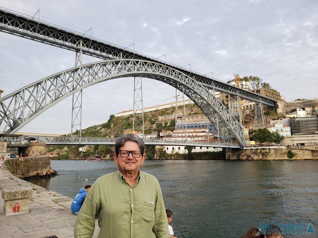 Ponte Luiz I na cidade de Porto.